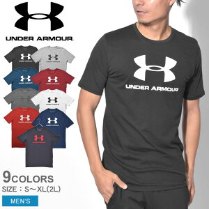 【メール便可】 UNDER ARMOUR アンダーアーマー Tシャツ 半袖 SPORTSTYLE LOGO SS 1329590 メンズ トップス ウェア スポーツ トレーニング ブランド ロゴ ショートスリーブ メッシュ プリント 半袖 黒 白