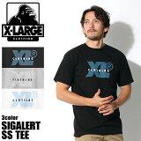 【メール便可】 エクストララージ X-LARGE Tシャツ SIGALERT S/S TEE ブラック 他全3色(M17B1120 BLACK GREY.H WHITE)エックスラージ 半袖 トップス ウェア カットソー T-SHIRT 黒 白 メンズ [0902sw-m]