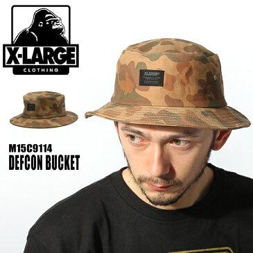 X-LARGE XLARGE エクストララージ デフコン バケット ハット M15C9114 カモDEFCON BUCKET帽子 カモフラージュ カモフラ 迷彩 ロゴ ストリートメンズ(男性用) 兼 レディース(女性用)