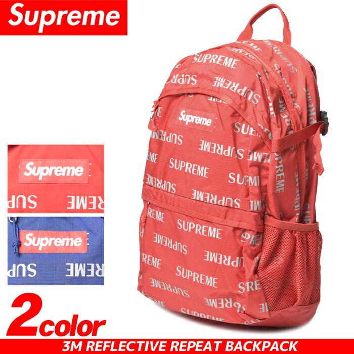 SUPREME シュプリーム バックパック 3M リフレクティブ リピート バックパック レッド 他全2色3M REFLECTIVE REPEAT BACKPACK FW16B5リュック バックパック 赤 青:Z-CRAFT