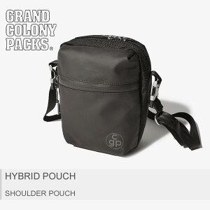 【メール便可】 GRAND COLONY PACKS グランドコロニーパックス GCP ショルダーポーチ ブラックハイブリット ポーチ HYBRID POUCH183005 メンズ レディース|syobun sale|