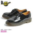 【今だけクーポン配布中】ドクターマーチン 1461 3ホール ギブソン ブラック Dr.Martens 1461W 3EYE GIBSON BLACK 黒 パテント エナメル レザー ワーク シューズ 靴 レディース 女性 誕生日プレゼント 結婚祝い ギフト おしゃれ