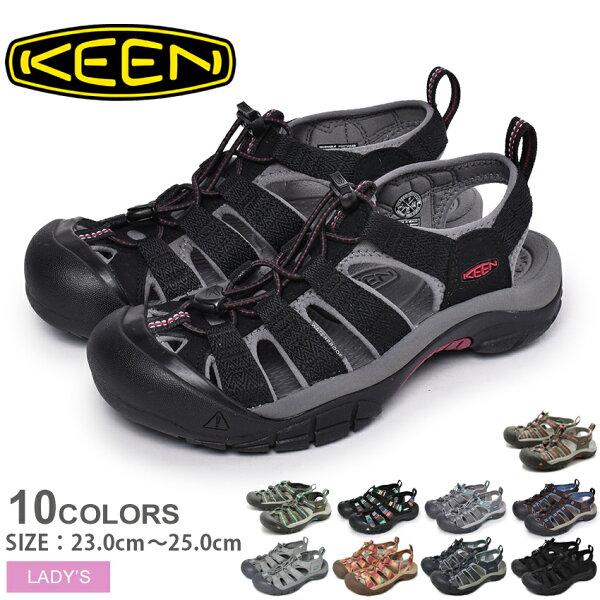 キーンニューポートH2ウィメンズサンダルKEENNEWPORTH2Wベルトアウトドアスポーツレジャーぺたんこシューズ靴レディース