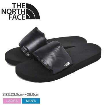 ザ ノースフェイス ヌプシ スライド シャワーサンダル THE NORTH FACE メンズ レディース NF52021 ブラック 黒 ノースフェース アウトドア プール レジャー ジム スポーツ シャワサン 靴 軽量 クッション フィット 室内履き 誕生日 プレゼント ギフト スーパーセール