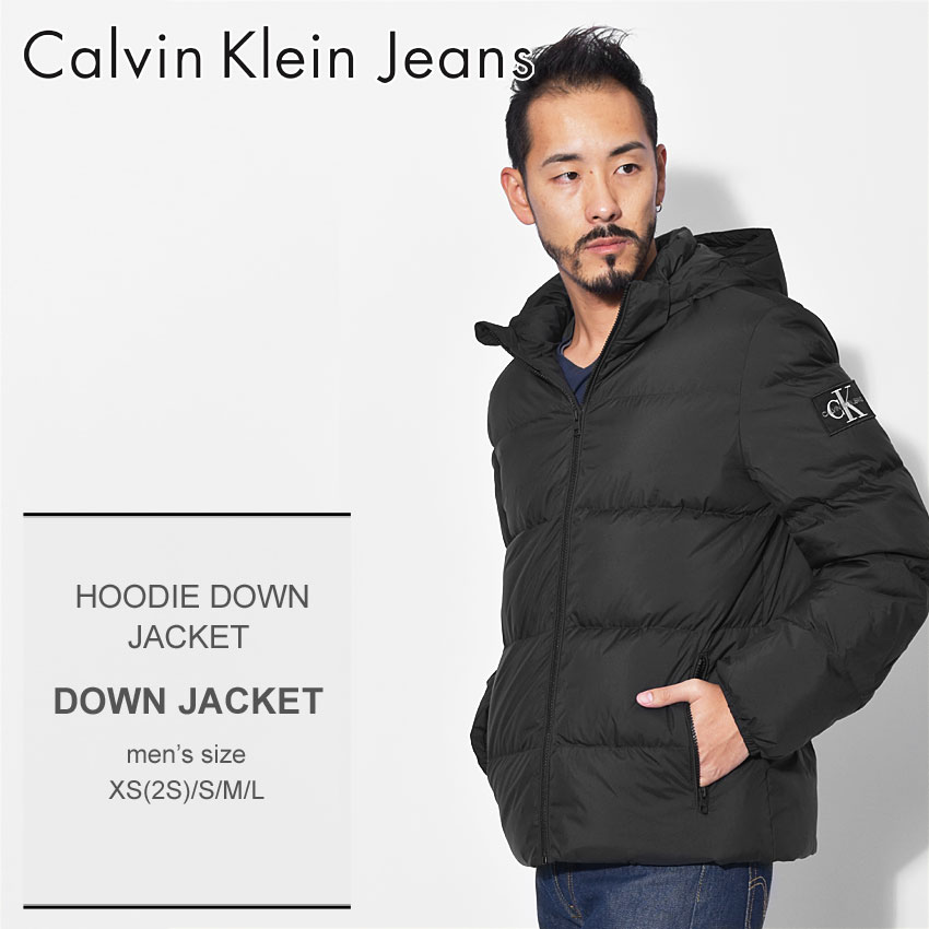 ceef4908f6481d CALVIN KLEIN JEANS カルバンクラインジーンズ ダウンジャケット ブラック フーディー ダウンジャケット HOODIE DOWN  JACKET J30J309487