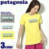 【メール便可】 PATAGONIA パタゴニア カットソー パステル P-6 ロゴ コットン クルー ホワイト 他全3色PASTEL P-6 LOGO COTTON CREW 39079カジュアル 半袖 Tシャツ アウトドア レディース 女性