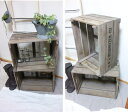 【アンティーク 木箱】ポテトBOX 3個セット木箱 ガーデニング好きに※【SALE】10%OFFの写真