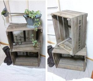 収納ボックス 収納棚♪1個【アンティーク 木箱】ポテトBOX 木箱 ガーデニング好きに