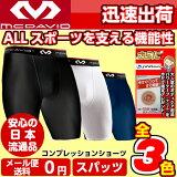 【送料無料】【安心の日本流通モデル】マクダビッド スパッツ コンプレッション ショーツ [XS〜XL] ブラック ホワイト ネイビー M706