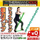セラバンドCLX 9ループタイプ グリーン THERABAND CLX [TCB-3] [強度:ヘビー +1] [150cm] D&M 全5色 シェイプアップ 筋力アップ トレーニング【メール便/送料無料(3点まで)】【売れ筋】