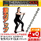 セラバンドCLX 9ループタイプ ブラック THERABAND CLX [TCB-5] [強度:スーパーヘビー +3] [150cm] D&M 全5色 筋力アップ トレーニング 体幹強化【メール便/送料無料(3点まで)】【売れ筋】