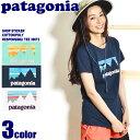 【メール便可】 PATAGONIA パタゴニア ショップ ステッカー 半袖 プリント Tシャツ ホワイト 他全3色 SHOP STICKER COTTON/POLY RESPONSIBILI-TEE 39072 レディース コットン ポリ アウトドア