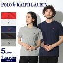 【メール便可】 POLO RALPH LAUREN ポロ ラルフローレン Tシャツ メンズ レディースワンポイント Vネック 半袖Tシャツ323-674983