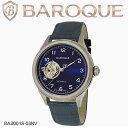 バロック 腕時計 メンズ BAROQUE ETERNITA BA3001S-03NV ウォッチ 定番 時計 ブランド レザー ビジネス カジュアル プレゼント 防水 アナログ 自動巻き ネイビー 紺