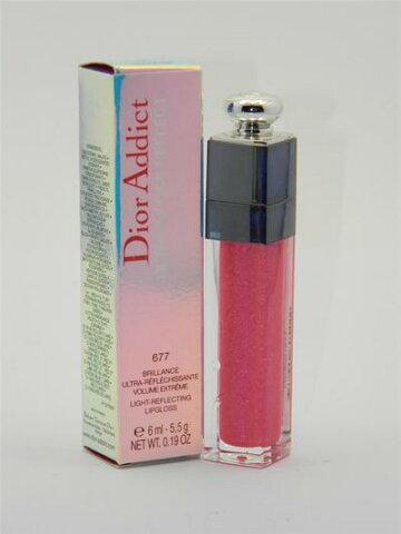 ディオール アディクト ウルトラグロス リフレクト ライトリフレクティング リップグロス 677 シルクフューシャ【Dior Addict Ultra-Gloss Reflect Light-Reflecting Lipgloss 677 Silk Fuchsia】
