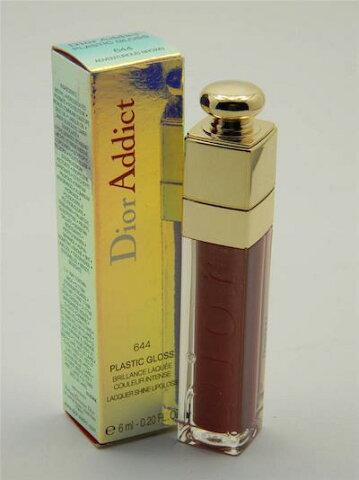 ディオール アディクト プラスチック グロス ラッカー シャイン リップグロス 644 アドベンチャラスブラウン【Dior Addict Plastic Gloss Lacquer Shine Lipgloss 644 Adventurous Brown】