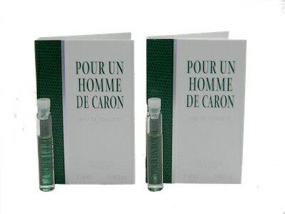 美容・コスメ・香水, 香水・フレグランス  2 2x2mlPour Un Homme De Caron EDT Vial Sample 2ml (Lot of 2)