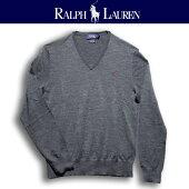 ラルフローレンRalphLauren羊毛VネックニットMerinoWoolV-NeckKnit/OceanオーシャンSafariサファリFreeandEasyフリーアンドイージー