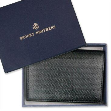 本革 カードケース [インナーカードケース 本物志向 メンズ 男性 薄い 長財布用 カード入れ 収納ブルックス・ブラザーズ 二折カードケース