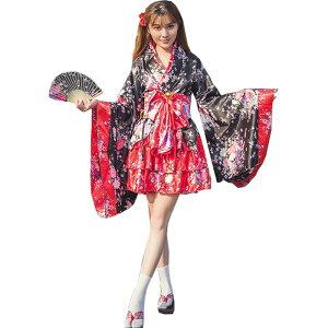 Oiran Kimono Dress Mini Dress Disfraz de Cosplay Evento Conmemorativo Yukata Vestido Kimono Año Nuevo Vestido de Noche Kimono Fiesta de Año Nuevo Festival de Fuegos Artificiales Festival Sexy