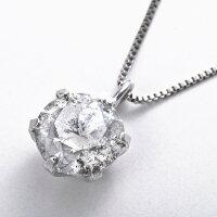 プラチナPT9991ctダイヤモンドペンダント/ネックレス(鑑別書付き)