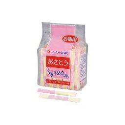 (まとめ)新三井製糖 スティックシュガー 3g×120本入 80408【×10セット】