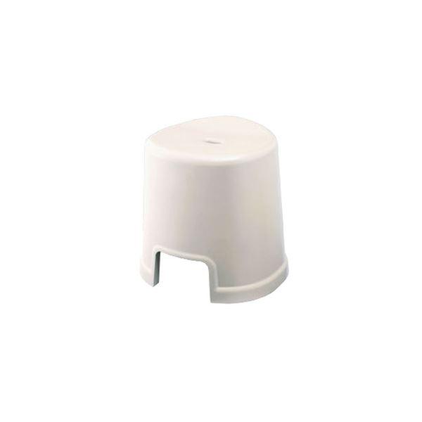 【12セット】 シンプル バスチェア/風呂椅子 【350 ホワイト】 すべり止め付き 材質:PP 『HOME&HOME』【代引不可】