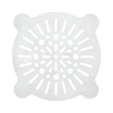 浴室 排水口フィルター/風呂掃除 【丸小 10枚入】 貼ってヘアーストッパー ホワイト レック 【240個セット】
