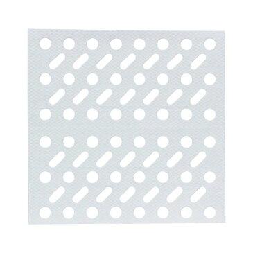 浴室 排水口フィルター/風呂掃除 【角】 貼ってヘアーストッパー ホワイト レック 【240個セット】