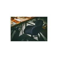 デスクチェア/パーソナルチェア【ブルー】幅55cmスチールキャスター付き『ロール』〔オフィス会社事務所書斎〕