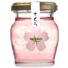 【数量限定】[金市商店]桜花びら入り蜂蜜 110g(賞味期限:2018年2月1日まで) /はち…
