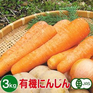 有機にんじん 3kg 有機人参 有機ニンジン 有機栽培 野菜 有機野菜 オーガニック 送料無料(一部地域を除く)