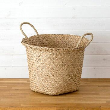 シーグラス製大きなランドリーかごバスケット[vn50562] おしゃれ かご かわいい オシャレ カゴバスケット ナチュラル ボックス ランドリーバック ランドリーバッグ 収納バスケット 洗濯かご