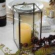 ガラスと真鍮でできた大きなキャンドルランタン(63150) ガラスボックス ガラスケース キャンドルランタン ディスプレイケース 小物入れ