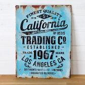 【California】ヴィンテージ風 サインボード(65210)【サインプレート アンティーク調 ブリキ看板 ヴィンテージ調 デザインボード アンティーク風 TINプレート 西海岸 男前 インテリア 雑貨 ブルックリン ビーチ マリン 店舗用 オブジェ 看板】