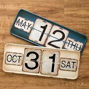 ヴィンテージ 日めくり カレンダー プレート アンティーク ガレージ スタンド ブルックリン オブジェ