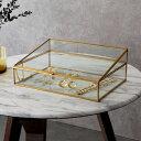 ガラスと真鍮でできたジュエリーボックス(63210) 【 ガラス ジュ...