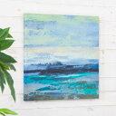 アートパネル 海 オーシャン キャンパス 幅50cm 正方形 絵画 [66971
