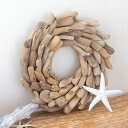 流木リース クリスマスリース 壁掛け 円形 ウッドリース 壁...