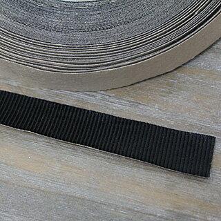 カチューシャ 仕上げ用 グログラン テープ 黒色[幅 18mm シールタイプ 1巻き売り(約23m)]sgy-94_roll( 手芸 ヘアアクセサリー パーツ 和洋裁材料 ハンドメイド 材料 素材 カチューシャ ヘアクリップ)