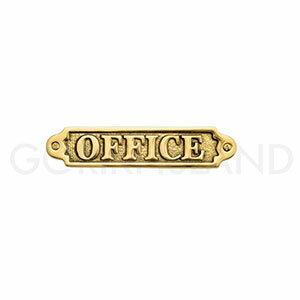 真鍮製 サインプレート OFFICE 630070