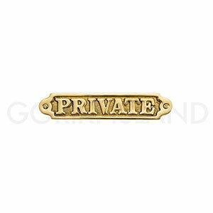 真鍮製 サインプレート PRIVATE 630080