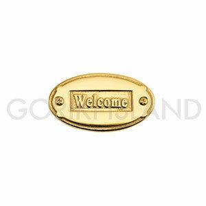 真鍮製 サインプレート WELCOME SOV 630139