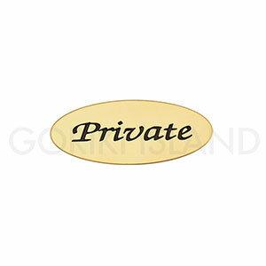 真鍮製 サインプレート PRIVATE オーバルAD 630202