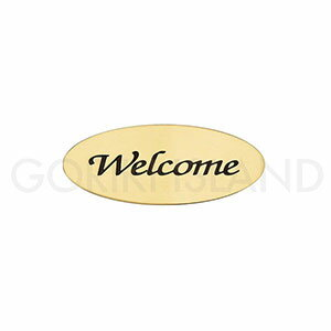 真鍮製 サインプレート WELCOME オーバルAD 630203