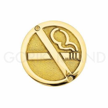 真鍮製 サインプレート NO SMOKING SYMBOL 630370