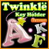 ティンクルキーホルダーアルファベット反射リフレクター交通安全光子供子どもかわいいおしゃれ英語
