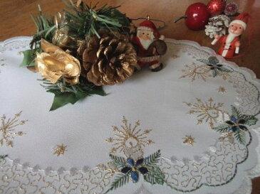 クリスマスブルー20x30cm oval