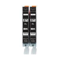 BCI-371XL BK 互換インク ブラック2本セット 2個セット キャノン 対応機種:CANON PIXUS MG7730 / MG7730F / MG6930 / MG5730 / TS5030 / TS6030 / TS8030 / TS9030 ZAZ BCI-371BK大容量版 BCI-371XLBK 染料インク ICチップ付 残量表示可能 2個セット 2本セット
