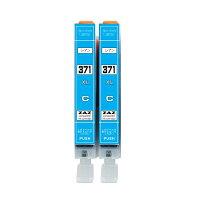 BCI-371XL C 互換インク シアン2本セット 2個セット キャノン 対応機種:CANON PIXUS MG7730 / MG7730F / MG6930 / MG5730 / TS5030 / TS6030 / TS8030 / TS9030 ZAZ BCI-371C大容量版 BCI-371XLC 染料インク ICチップ付 残量表示可能 2個セット 2本セット
